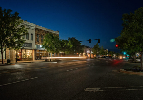 Downtown Edmond captured by Marshall Hawkins